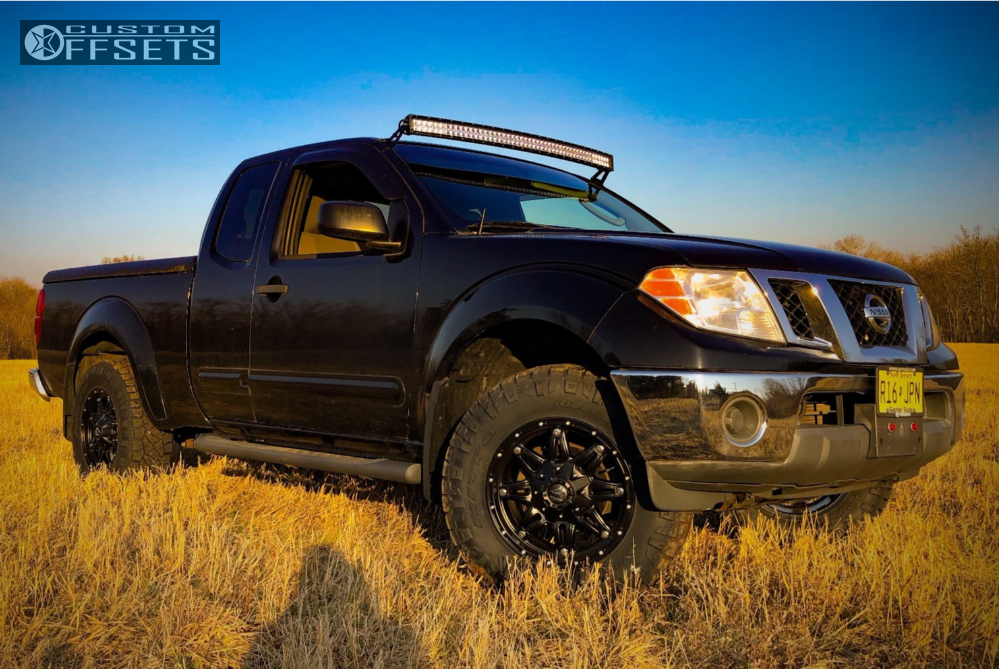 2 2009 Frontier Nissan Stock Leveling Kit Fuel Hostage Black