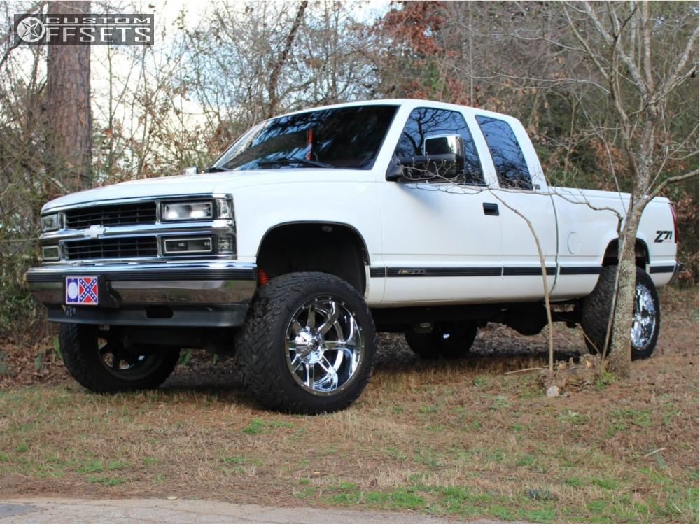 1 1997 K1500 Chevrolet Pro Comp Suspension Lift 4in Fuel Maverick D536 Chrome
