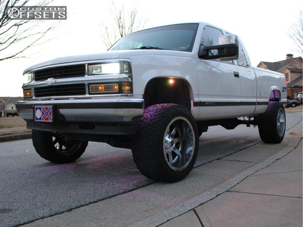 10 1997 K1500 Chevrolet Pro Comp Suspension Lift 4in Fuel Maverick D536 Chrome
