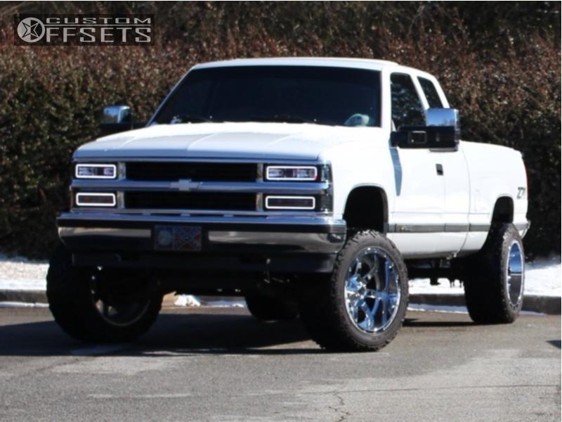 8 1997 K1500 Chevrolet Pro Comp Suspension Lift 4in Fuel Maverick D536 Chrome