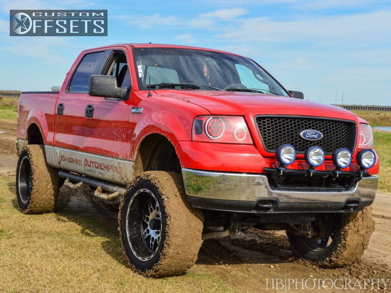 5 2005 F 150 Ford 4dr Supercrew Lariat 4wd Styleside 55 Ft Sb 54l 8cyl 4a Suspension Lift 6 Kmc Xd Diesel Machined Accents Super Aggressive 3
