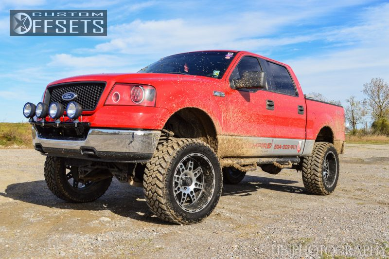6 2005 F 150 Ford 4dr Supercrew Lariat 4wd Styleside 55 Ft Sb 54l 8cyl 4a Suspension Lift 6 Kmc Xd Diesel Machined Accents Super Aggressive 3
