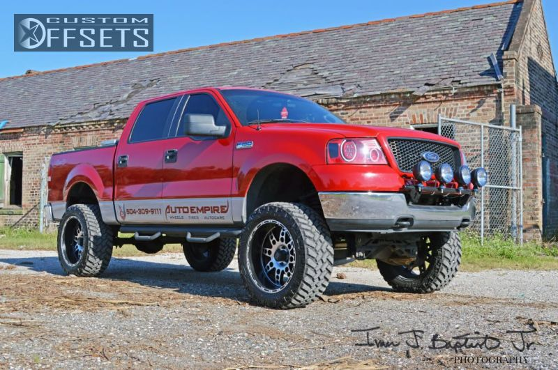 9 2005 F 150 Ford 4dr Supercrew Lariat 4wd Styleside 55 Ft Sb 54l 8cyl 4a Suspension Lift 6 Kmc Xd Diesel Machined Accents Super Aggressive 3