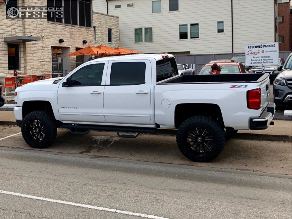 10 2017 Silverado 1500 Chevrolet Zone Suspension Lift 65in Hostile Predator Machined Accents