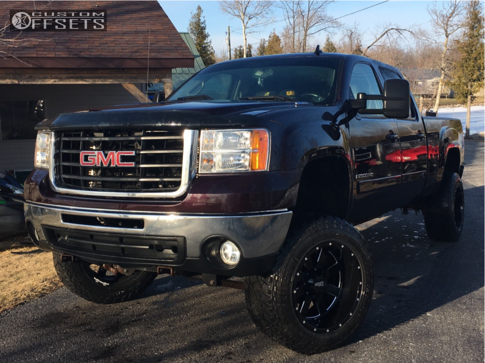 1 2011 Sierra 2500 Hd Gmc Rough Country Suspension Lift 6in Moto Metal Mo962 Black