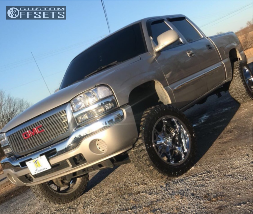 1 2007 Sierra 1500 Classic Gmc Rough Country Suspension Lift 4in Mayhem Missile Chrome