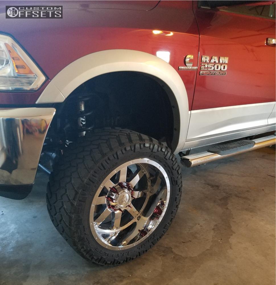 8 2013 Ram 2500 Dodge Bds Suspension Lift 6in Gear Alloy 726c Chrome