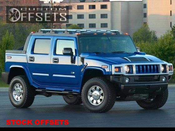 2003 HUMMER H2 Flush on 20x8.5 18 offset Stock Stock and 305/60 Stock Stock on Stock - Custom Offsets Gallery