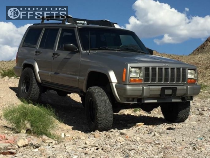 "2001 jeep cherokee cragar soft 8 rubicon express super flex jeep xj 4 inch lift jeep cherokee sport xj 3""lift 31"" tires"