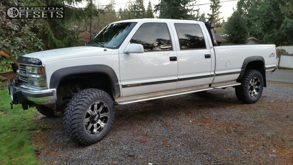 1 1998 K3500 Chevrolet Suspension Lift 3 Alloy Ion Style 187 Black Aggressive 1 Outside Fender