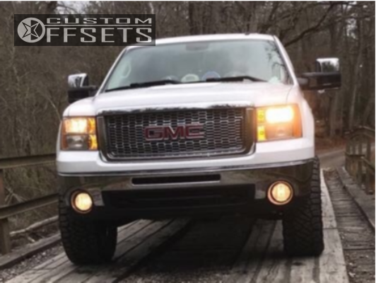3 2010 Sierra 1500 Gmc Rough Country Suspension Lift 35in Fuel Maverick D260 Chrome