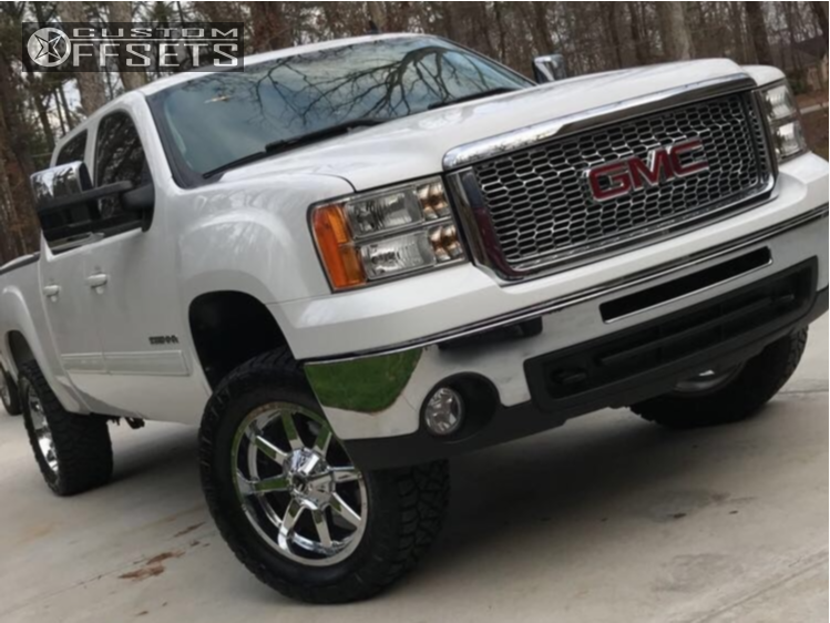 5 2010 Sierra 1500 Gmc Rough Country Suspension Lift 35in Fuel Maverick D260 Chrome