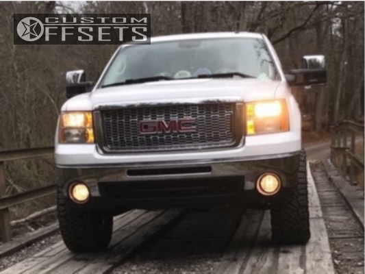 2 2010 Sierra 1500 Gmc Rough Country Suspension Lift 35in Fuel Maverick D536 Chrome