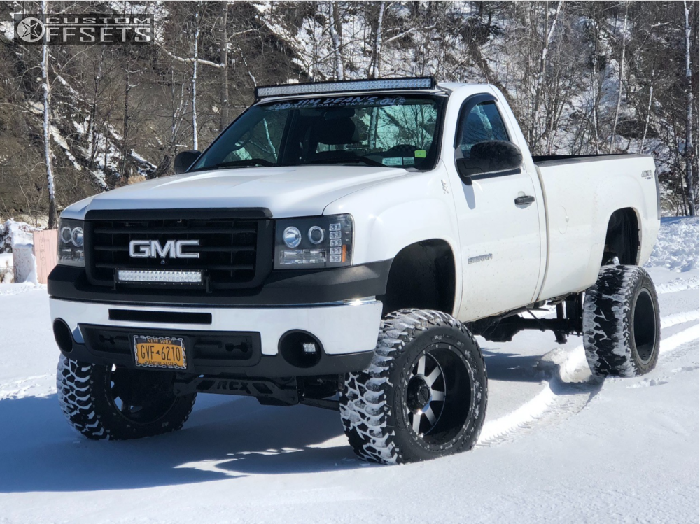 1 2011 Sierra 1500 Gmc Rough Country Suspension Lift 7in Body 3in Gear Alloy Big Block Machined Accents