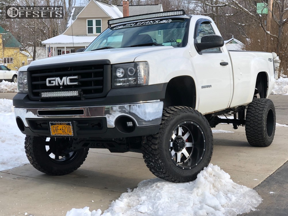 8 2011 Sierra 1500 Gmc Rough Country Suspension Lift 7in Body 3in Gear Alloy Big Block Machined Accents