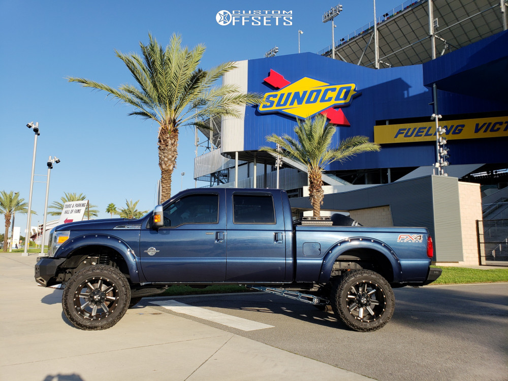 15 2016 F 350 Super Duty Ford Pro Comp Suspension Lift 6in Cali Offroad Busted Black Milled