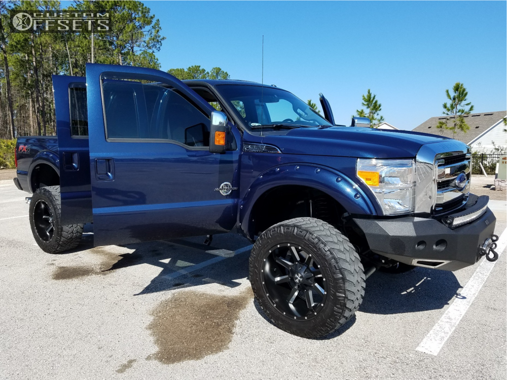 7 2016 F 350 Super Duty Ford Pro Comp Suspension Lift 6in Cali Offroad Busted Black