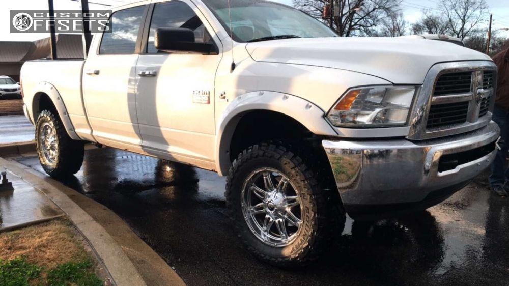 1 2012 Ram 2500 Dodge Suspension Lift 3 Fuel Hostage Chrome Hellaflush