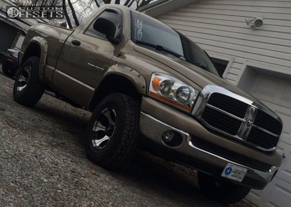 2006 Dodge Ram 1500 Slightly Aggressive on 17x9 -10 offset Dick Cepek Dc-2 and 285/70 Mastercraft Courser Axt on Leveling Kit - Custom Offsets Gallery