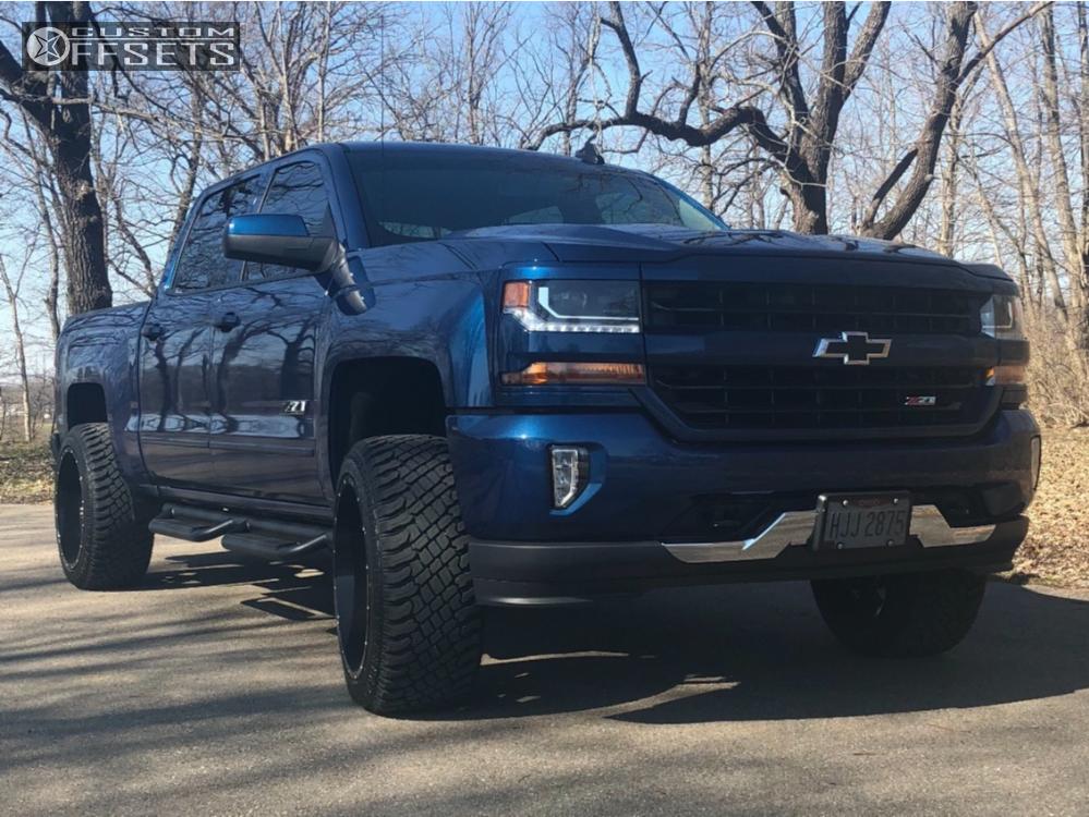 1 2018 Silverado 1500 Chevrolet Motofab Leveling Kit Hostile Alpha Black