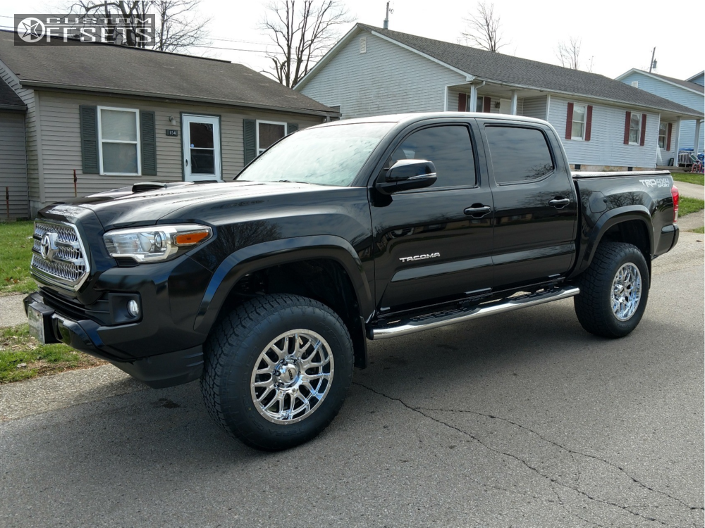 1 2017 Tacoma Toyota Rough Country Suspension Lift 3in Ultra Hunter Chrome