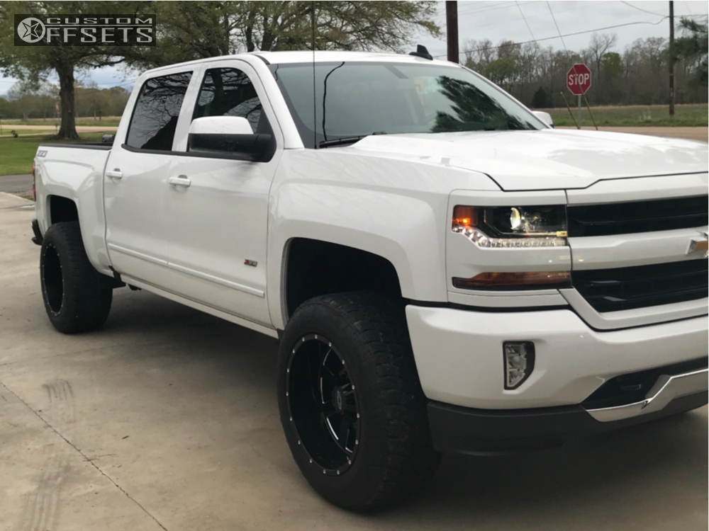 1 2018 Silverado 1500 Chevrolet Fabtech Suspension Lift 4in Moto Metal Mo200 Black