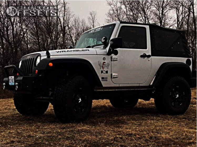 """2008 Jeep Wrangler Super Aggressive 3""""-5"""" on 17x8 35 offset Xd Xd775 and 295/70 Nitto Terra Grappler on Suspension Lift 3.5"""" - Custom Offsets Gallery"""