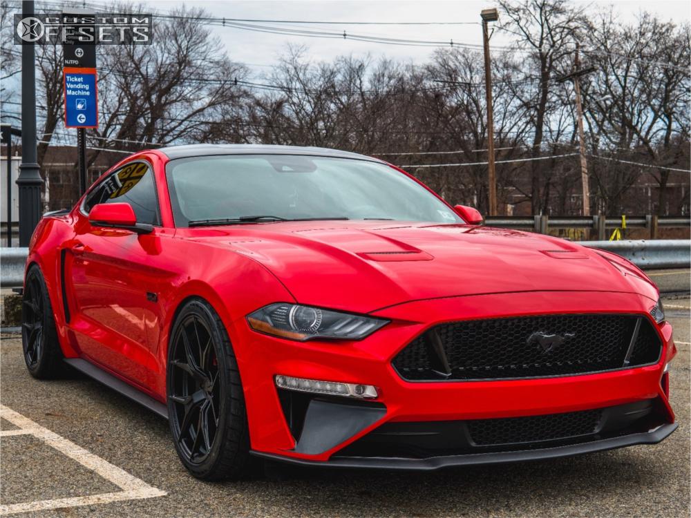 Black Ford Fusion Black Rims >> 2018 Ford Mustang Rohana Rfx5 Eibach Lowering Springs