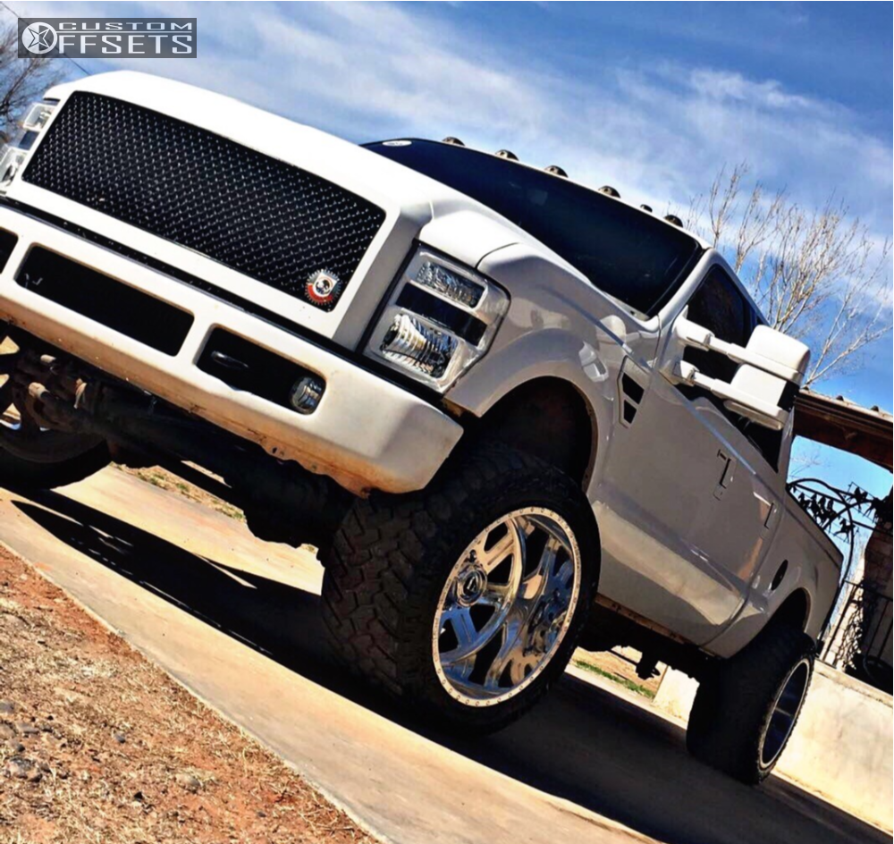 2008 ford f 250 super duty fuel forged ff07 stock stock. Black Bedroom Furniture Sets. Home Design Ideas
