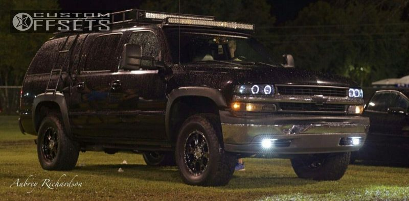 1 2001 Suburban 1500 Chevrolet Suspension Lift 6 V Tec Raptor Black Flush