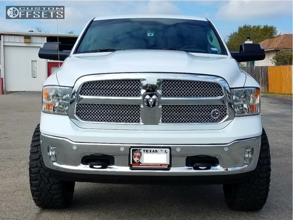 """2018 Dodge Ram 1500 Super Aggressive 3""""-5"""" on 22x12 -44 offset Fuel Triton and 35""""x12.5"""" Cooper Discoverer Stt Pro on Suspension Lift 7"""" - Custom Offsets Gallery"""