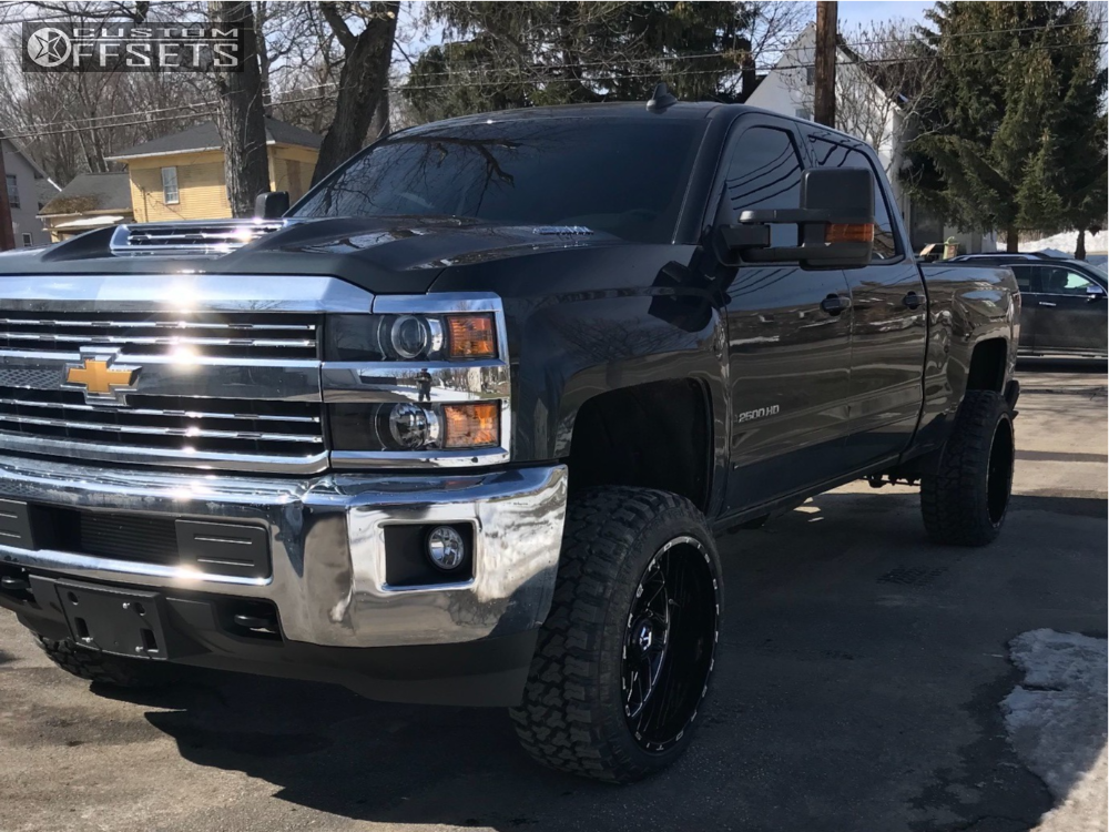 1 2018 Silverado 2500 Hd Chevrolet Rough Country Suspension Lift 35in Tis 544bm Machined Black