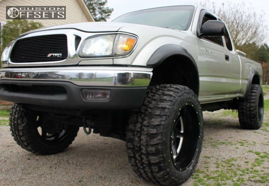 04 Tacoma Lifted >> Wheel Offset 2004 Toyota Tacoma Super Aggressive 3 5 Leveling Kit