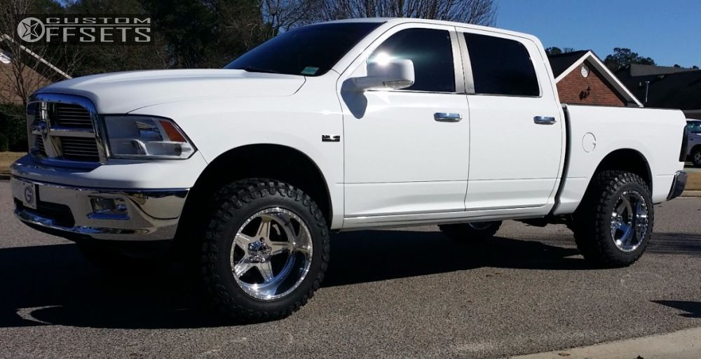 1 2010 Ram 1500 Dodge Suspension Lift 4 American Force Hero Ss5 Polished Super Aggressive 3 5