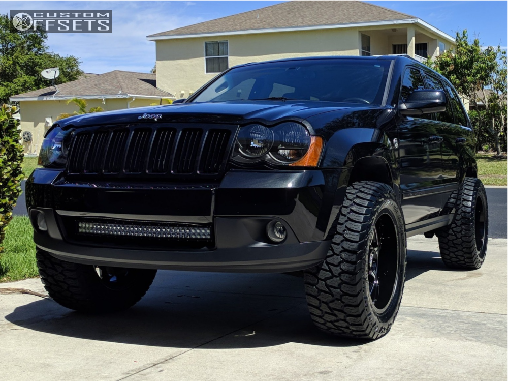 1 2009 Grand Cherokee Jeep Rough Country Coil Spacers Suspension Lift 25in  Ultra Menace Machined Accents ...