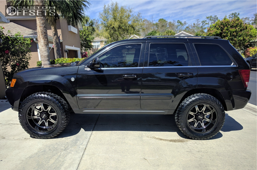 Lifted Black Jeep Grand Cherokee >> 2009 Jeep Grand Cherokee Ultra Menace Rough Country Suspension Lift 25in