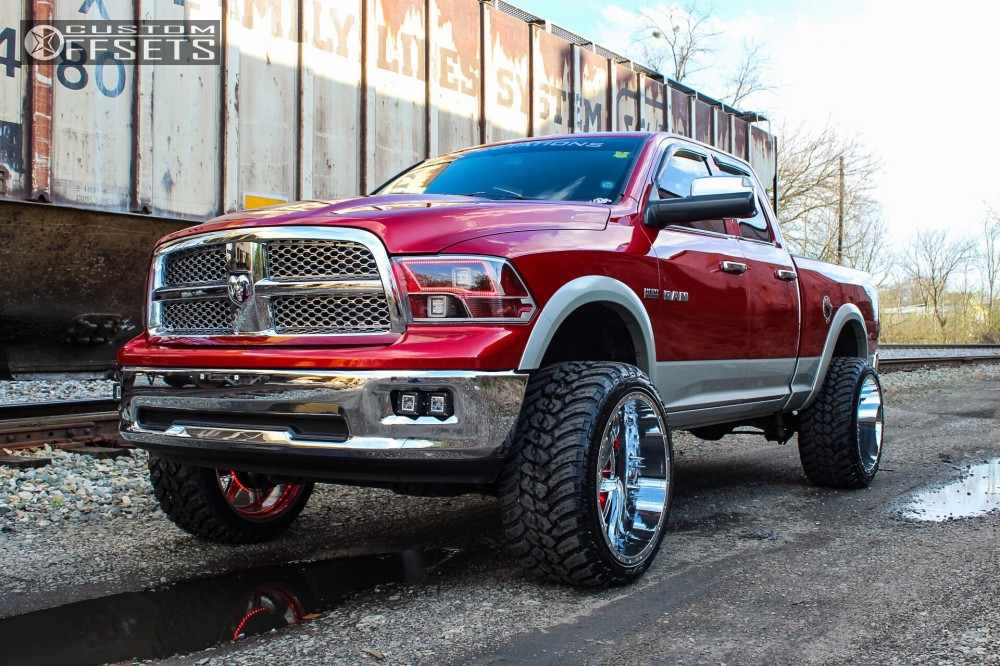 1 2009 1500 Dodge Rough Country Suspension Lift 6in American Truxx Vortex Chrome