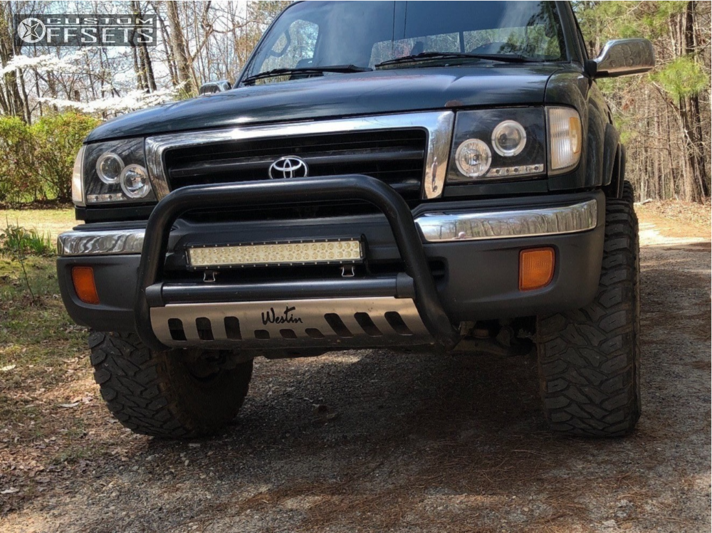 1 1998 Tacoma Toyota Rough Country Suspension Lift 25in Mb Wheels Tko Matte Black