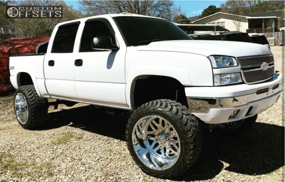 1 2006 Silverado 1500 Chevrolet Full Throttle Suspension Lift 10in American Force Trax Ss Polished