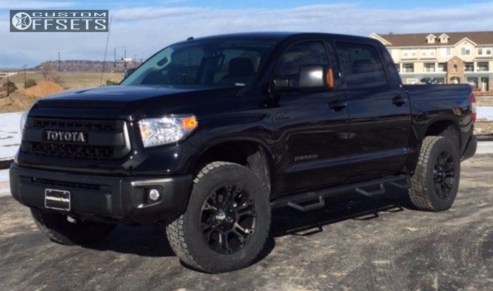 wheel offset 2016 toyota tundra nearly flush leveling kit. Black Bedroom Furniture Sets. Home Design Ideas