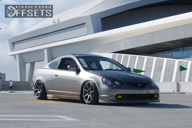 Wheel Offset Acura Rsx Flush Lowered Adj Coil Overs Custom Rims - Acura rsx rims