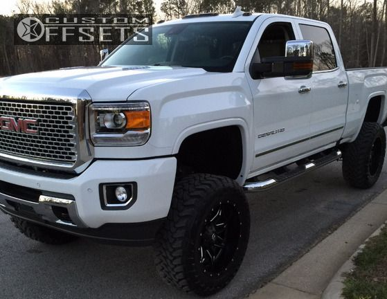 1 2016 Sierra 2500 Hd Gmc Suspension Lift 75 Fuel Octane Chrome