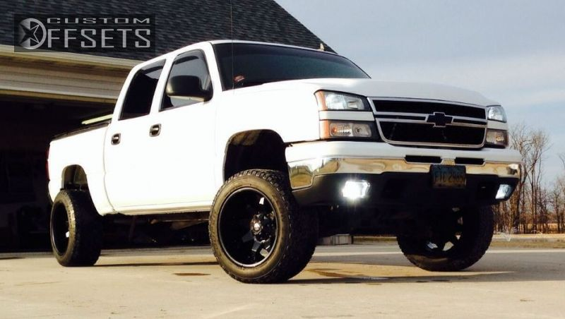 1 2007 Silverado 1500 Classic Chevrolet Suspension Lift 6 Fuel Octane Black Super Aggressive 3