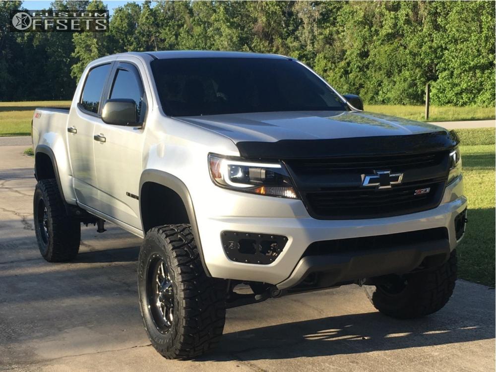 1 2015 Colorado Chevrolet Rough Country Suspension Lift 6in Fuel Ripper Black