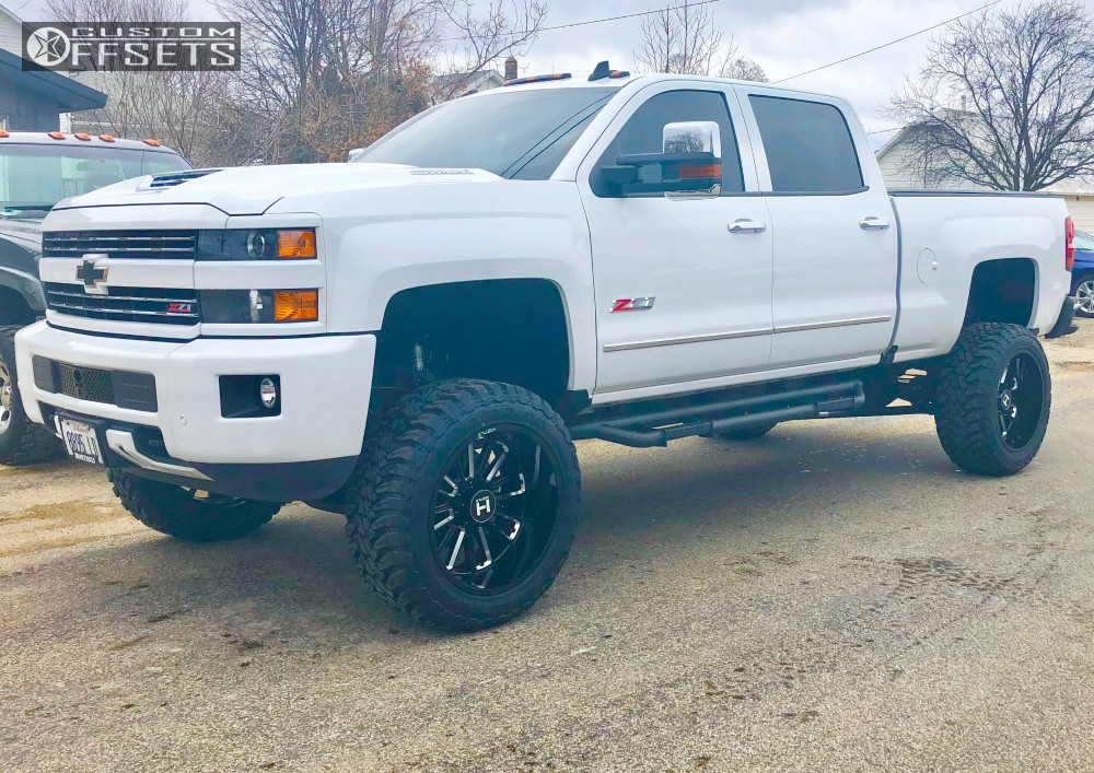 1 2017 Silverado 2500 Hd Chevrolet Bds Suspension Lift 65in Hostile Predator Machined Accents