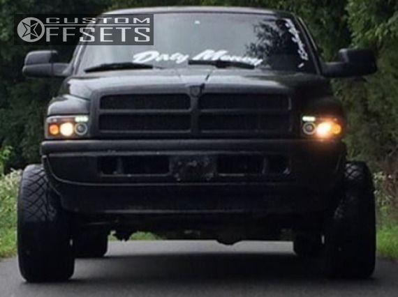 2 1997 Ram 1500 Dodge Body Lift 3 Gear Alloy 726 Custom Hella Stance 5