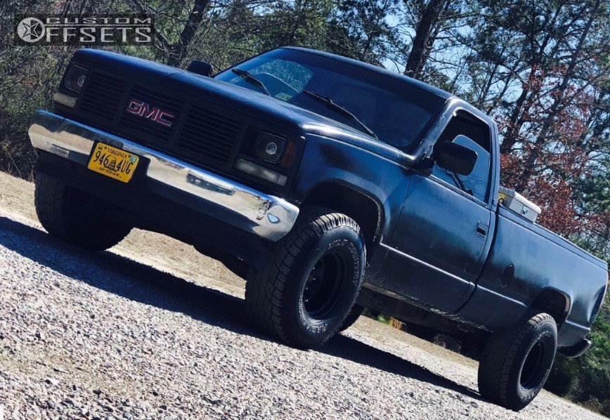 1 1992 C1500 Gmc N A Body Lift 3in Vision 126 Black