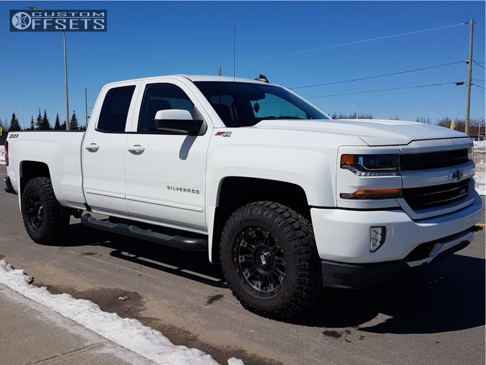 1 2017 Silverado 1500 Chevrolet Rough Country Suspension Lift 25in Xd Xd829 Black