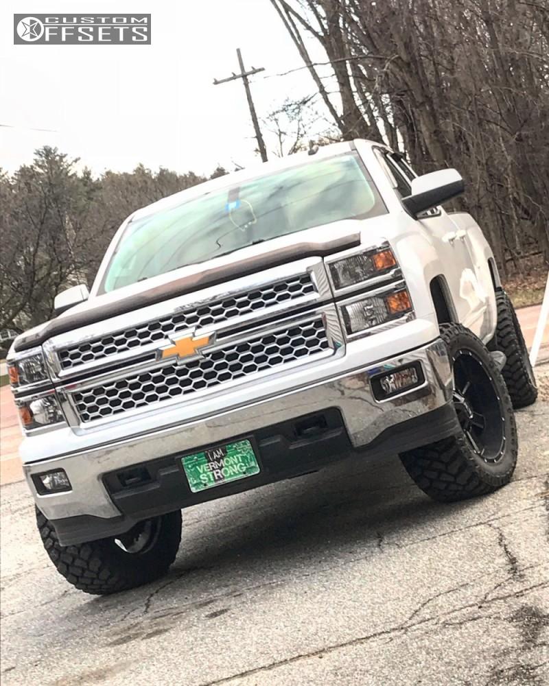 1 2015 Silverado 1500 Chevrolet Rough Country Suspension Lift 35in Ion Alloy Style 141 Black