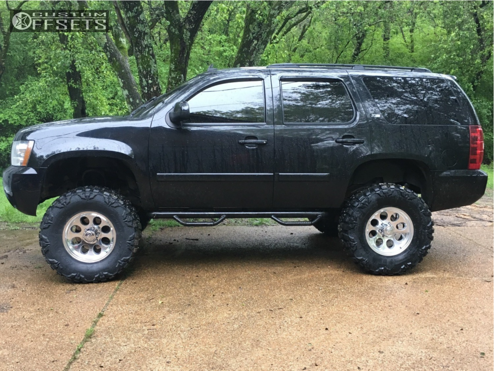 1 2007 Tahoe Chevrolet Rough Country Suspension Lift 75in Alloy Ion Style 171 Polished